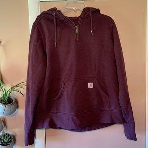 Carhartt Women's Quarter Zip Pullover Hoodie